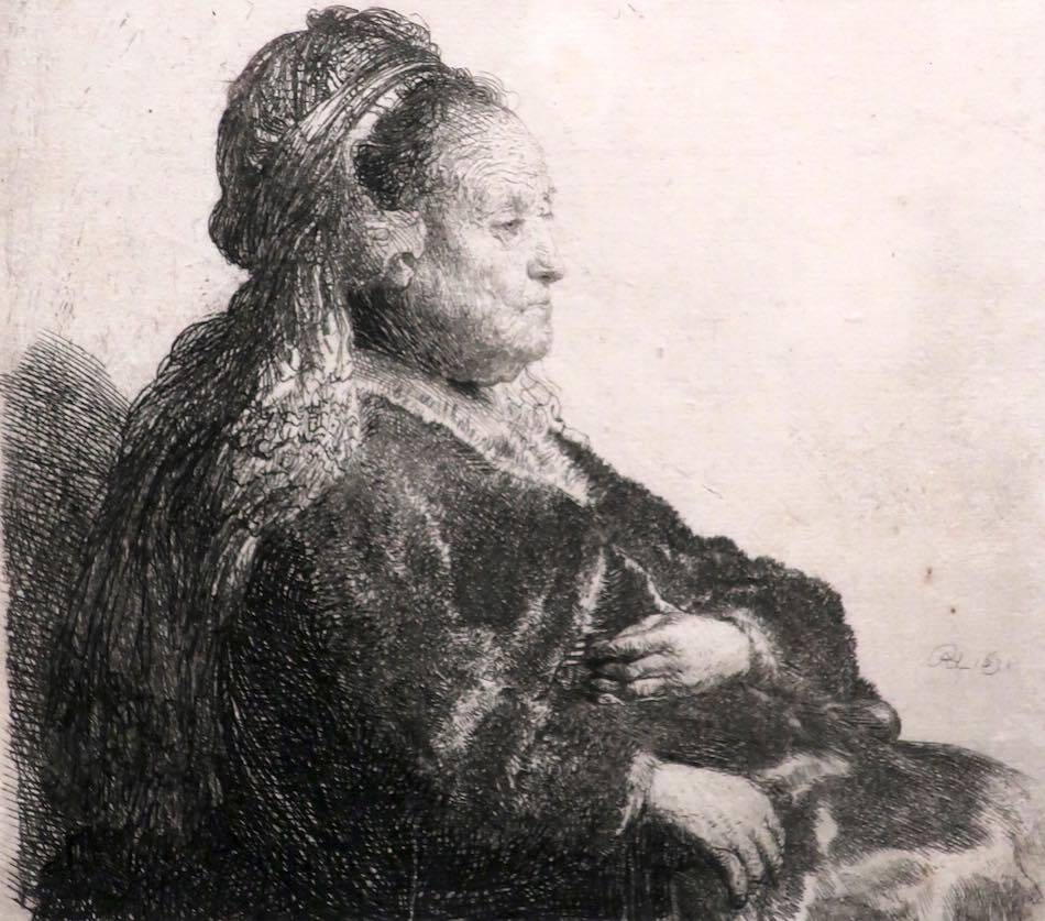 rembrandt's mother etching