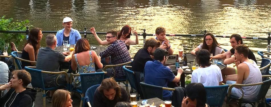 Amsterdam beer garden Café Soundgarden.