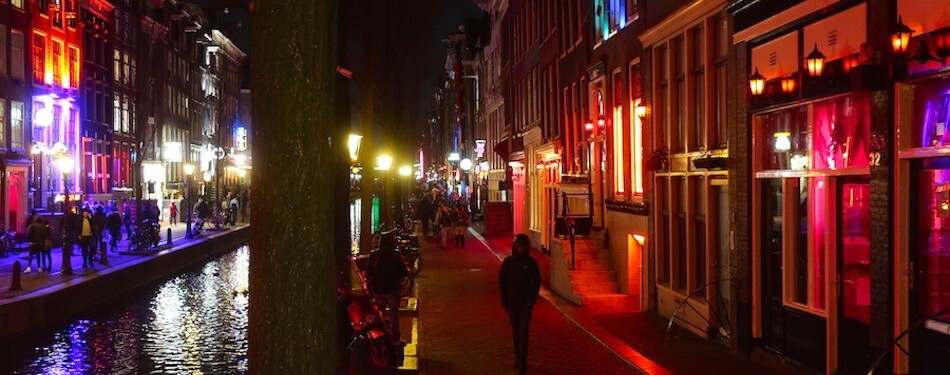 amsterdam red light district tour night