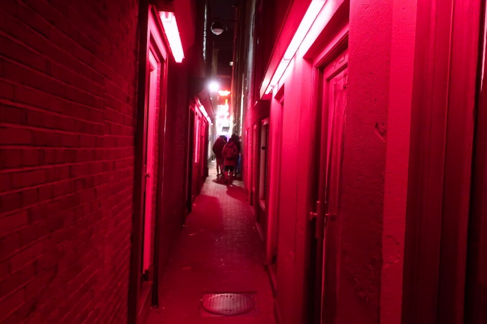 Amsterdam Red Light District alley