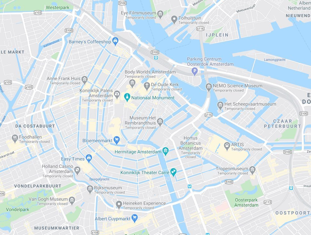 where is the centre of Amsterdam