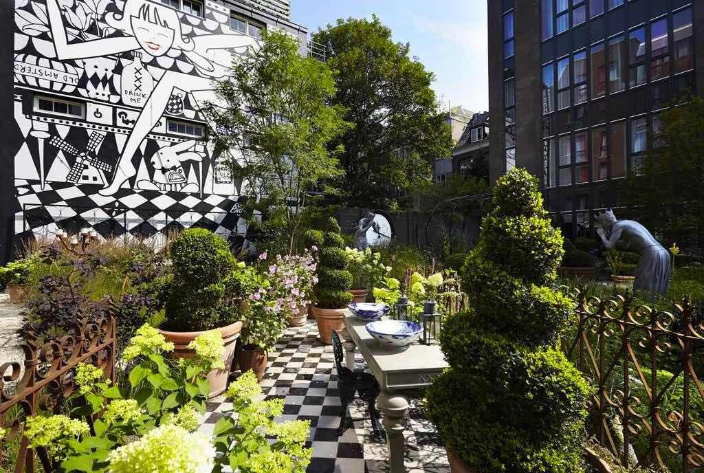 amsterdam hotel garden